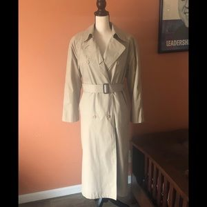 LONDON FOG classic khaki trench coat